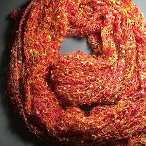 "NWOT ""Confetti"" 100% Rayon 5 1/2 foot long scarf"